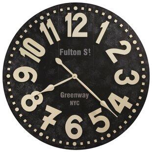 Oversized 36 Fulton Street Wall Clock by Howard Miller® Office Furniture