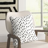 Glenwood Dalmatian Dot Cotton Animal Print Throw Pillow