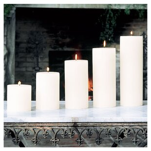 Unscented Ivory Pillar Candle