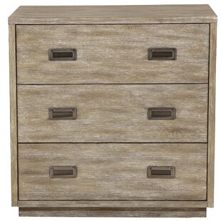 Woodcreek Modern Retro Style 3 Drawer Accent Chest