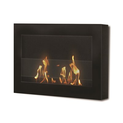 Soho Wall Mounted Bio-Ethanol Fireplace Anywhere Fireplace Finish: Black Painted Finish
