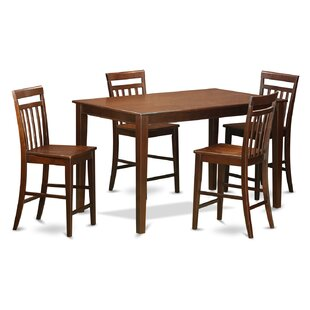 Araminta 5 Piece Counter Height Pub Table Set Cheap