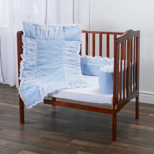 Elsberry Tulle Portable 3 Piece Crib Bedding Set By Harriet Bee