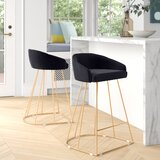 Cortez 25.5 Counter Stool (Set of 2) by Everly Quinn