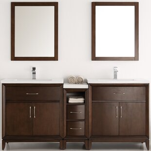 Cambridge 72 Double Bathroom Vanity Set with Mirror by Fresca