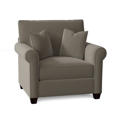 Reon Armchair Red Barrel Studio? Body Fabric: Conversation Smoke, Throw Pillow Fabric: Spectrum Graphite, Mattress Type: Innerspring Mattress