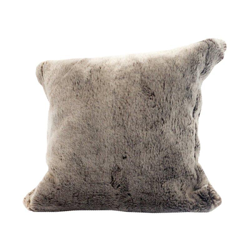 Posh Pelts Chinchilla Faux Fur Pillow Cover Reviews Wayfair Impressive Grey Faux Fur Pillow Covers