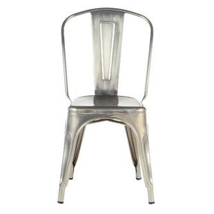 Industrial Metal Side Chair Stackable Joseph Allen Home