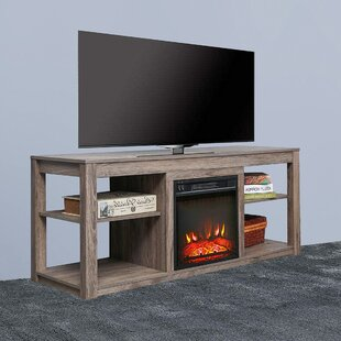Kreider TV Stand for TVs up to 55 with Fireplace Included by Millwood Pines