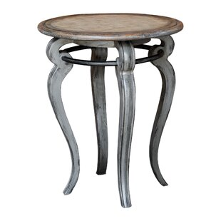 August Grove Io Round End Table