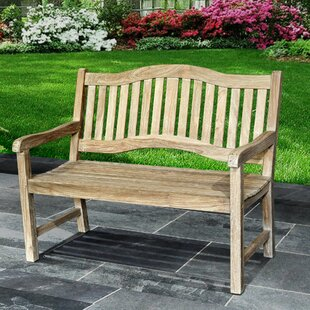 Mcintyre Teak Park Bench by Rosecliff Heights Find