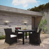 Bletchley Outdoor Patio 3 Piece Dining Set with Cushions