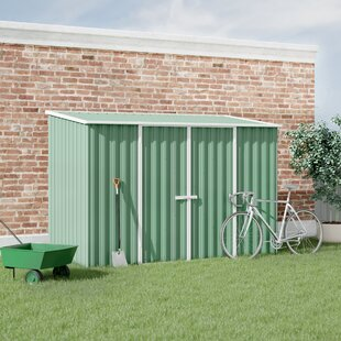 Absco 10 Ft. W X 5 Ft. D Pent Metal Shed By WFX Utility
