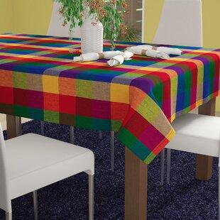 Dorado Indian Summer Checkered Tablecloth