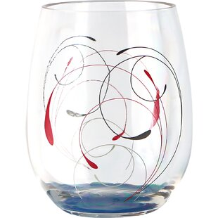 Splendor 16 oz. Acrylic Stemless Wine Glass (Set of 4)