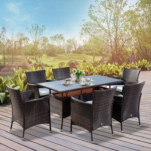 Kindred 6 Seater Dining Set With Cushions By Sol 72 Outdoor