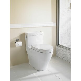Toto Aimes Universal Height Skirted 1.28 GPF Elongated One-Piece Toilet with CeFiONtect