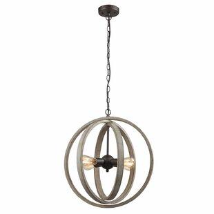 Gracie Oaks Adalwin Modern Rustic 4-Light Globe Pendant