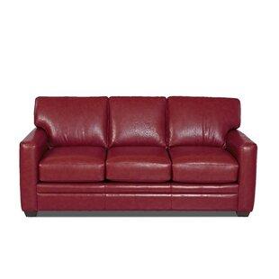 Carleton Leather Sofa Bed by Wayfair Custom Upholstery™
