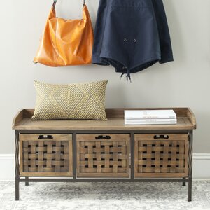 Isaac Wooden Storage Bench
