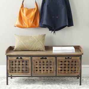 Isaac Wooden Storage Bench
