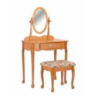 Astoria Grand Freddi Vanity Set with Mirror