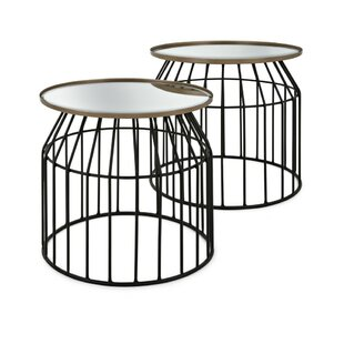 Briana Metal Structured End Table (Set of 2) by 17 Stories