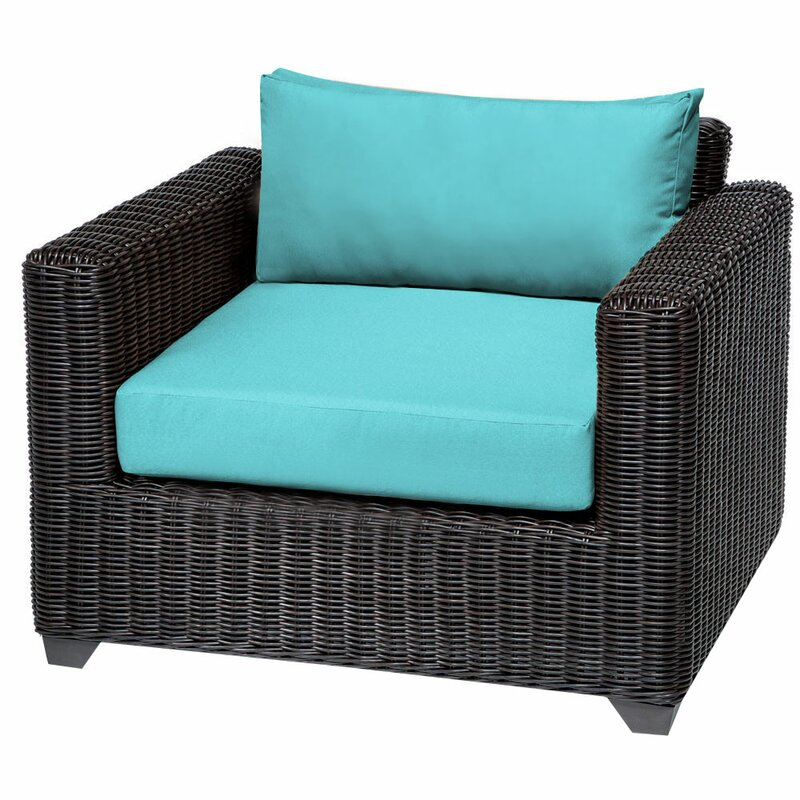 Sol 72 Outdoor  Fairfield Patio Chair with Cushions Cushion Color: Aruba