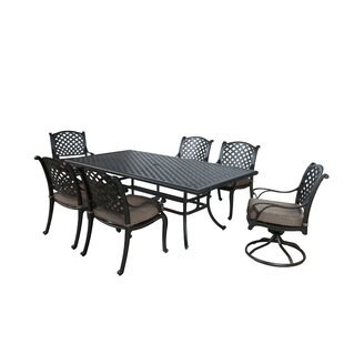 Darby Home Co Kempf 7 Piece Dining Set with Cushions