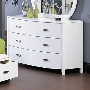 Latitude Run Rushmere 6 Drawer Double Dresser