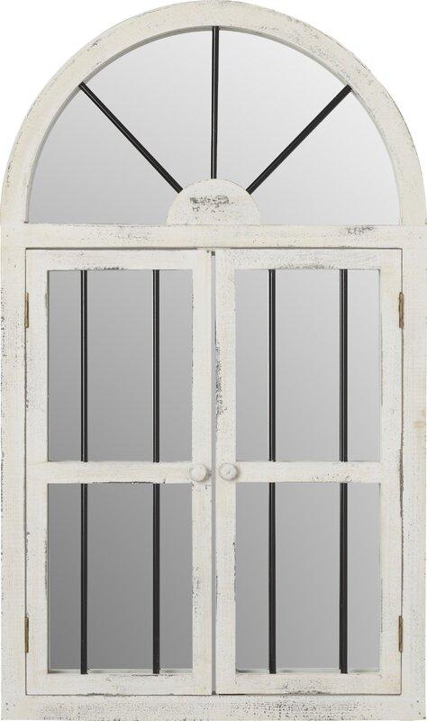Faux window wood wall mirror reviews birch lane faux window wood wall mirror teraionfo