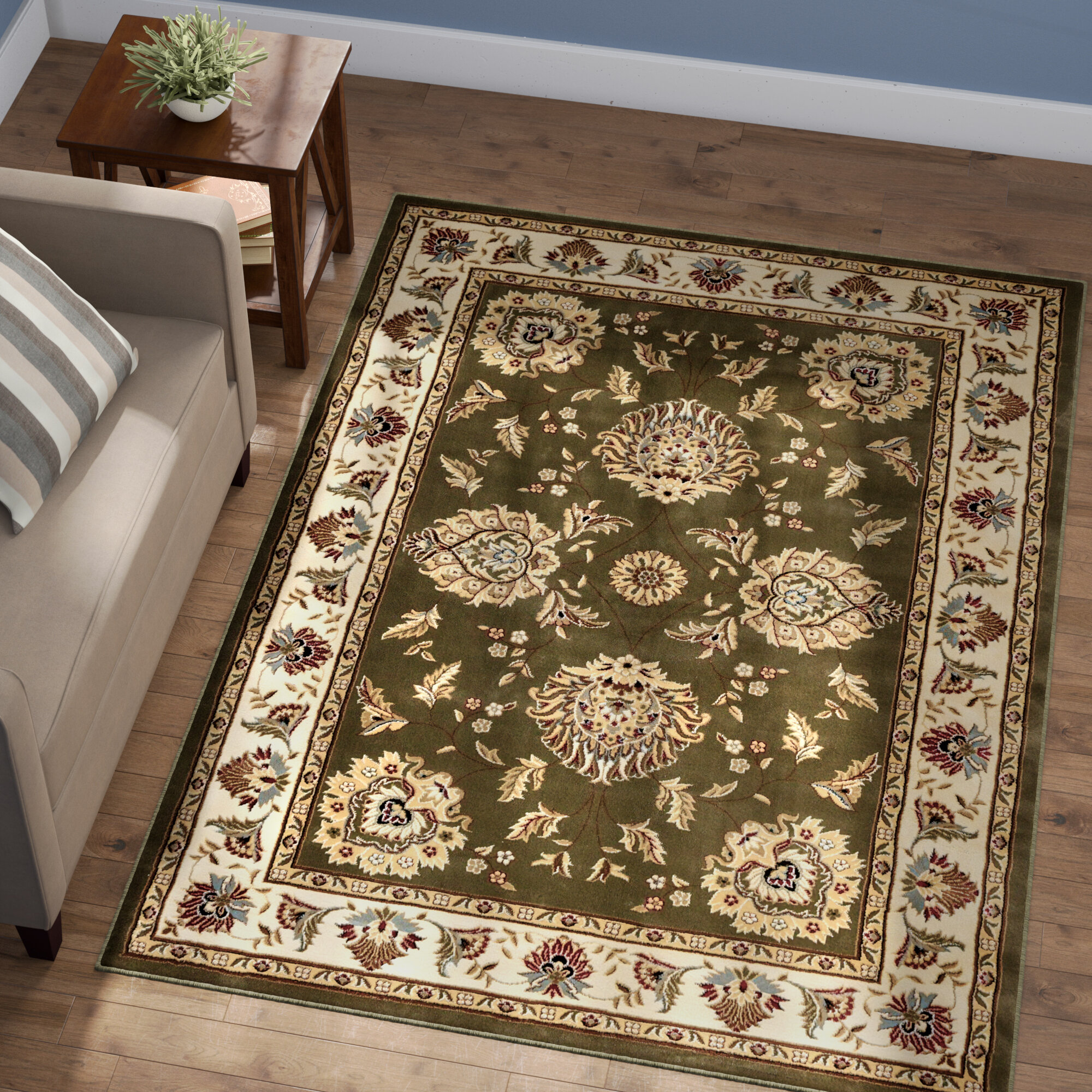 Astoria Grand Colindale Traditional Green Area Rug Reviews Wayfair