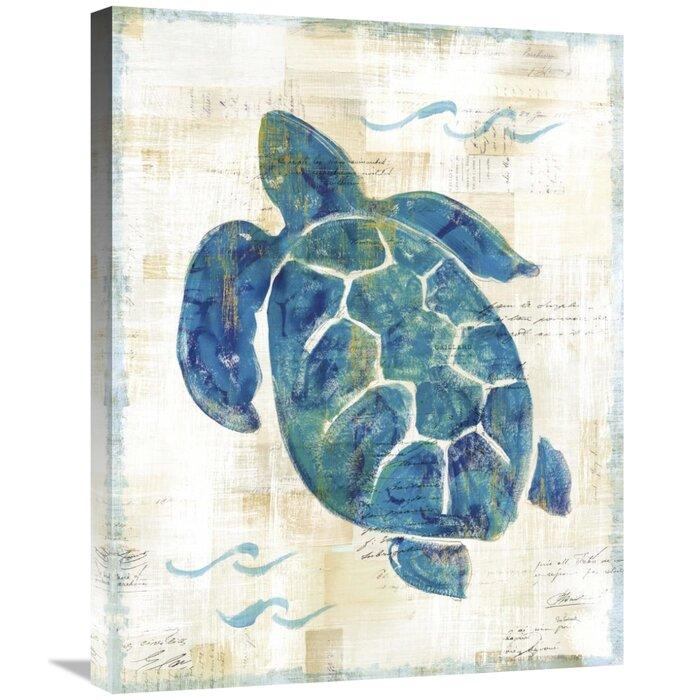 Indigo Waves Giclee Stretched Canvas Artwork 20 x 24 Global Gallery Sue Schlabach