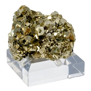 Pyrite Cluster with Onyx Stand Paper Weight