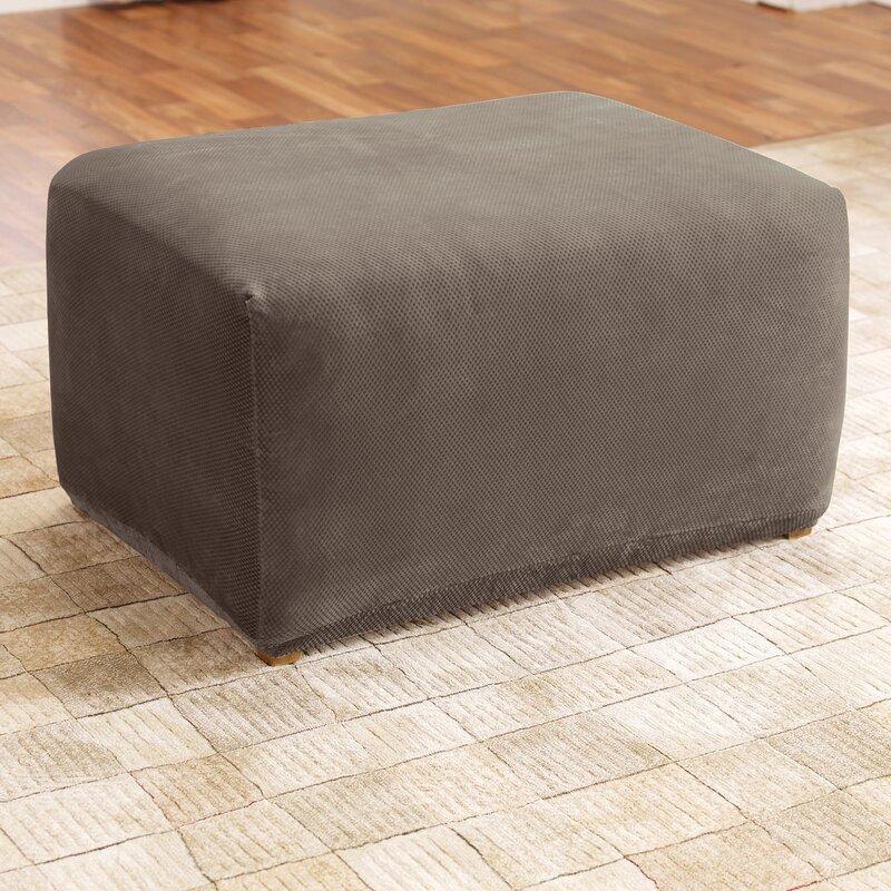 Sure Fit Stretch Pique Box Cushion Ottoman Slipcover Reviews Wayfair