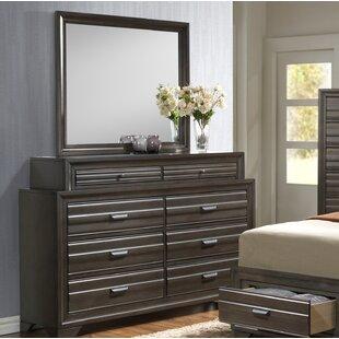Vanzant 8 Drawer Double Dresser with Mirror by Bloomsbury Market