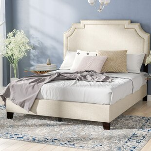 Galway Tiered Clipped Corner Queen Upholstered Panel Bed by DarHome Co
