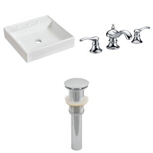 Reviews Ceramic Square Bathroom Sink with Faucet By American Imaginations