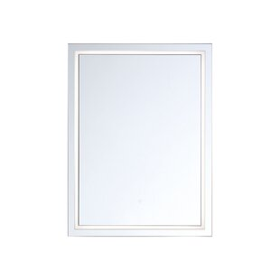 Dyersville Transitional Modern Lighted Bathroom Mirror