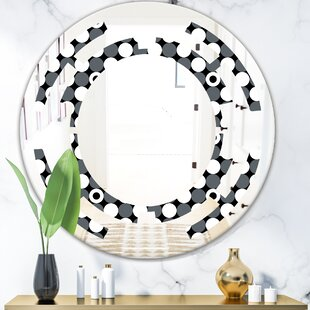 Space Monochrome Geometric Pattern XIV Modern and Contemporary Frameless Vanity Wall Mirror by East Urban Home
