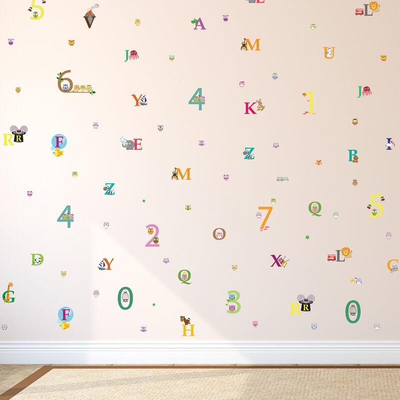 Zoomie Kids Kucera Learning Is Fun 118 2 L X 78 8 W Self Adhesive Wallpaper Tile Wayfair