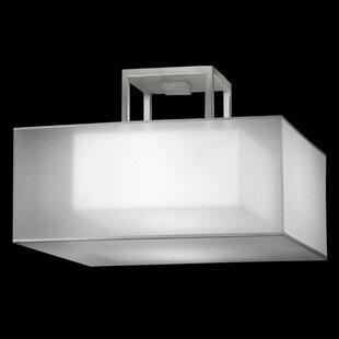 Fine Art Lamps Quadralli 2-Light Semi-Flush Mount