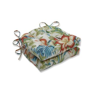 Botanical Glow Tiger Lily Reversible Indoor/Outdoor Dining Chair Cushion (Set of 2)