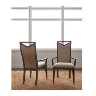 Coletta Wood Back Arm Chair (Set of 2)