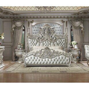 Tryphena Luxurious Traditional Vintage Upholstered Panel Bed