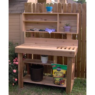Ultimate Cedar Potting Bench
