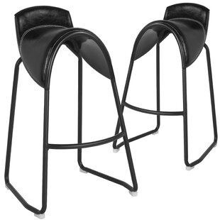 Burkey Saddle 32 Bar Stool (Set of 2) Union Rustic