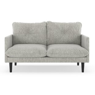 Dillinger Twilled Weave Loveseat by 17 Stories