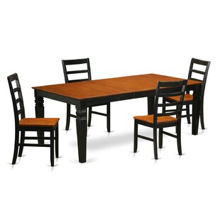 Logan 5 Piece Dining Set Wooden Importers