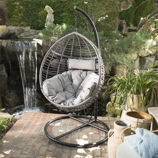 Weller Outdoor Wicker Basket Swing Chair with Stand by Brayden Studio
